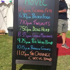 HoVEC Summer Festival Events Board